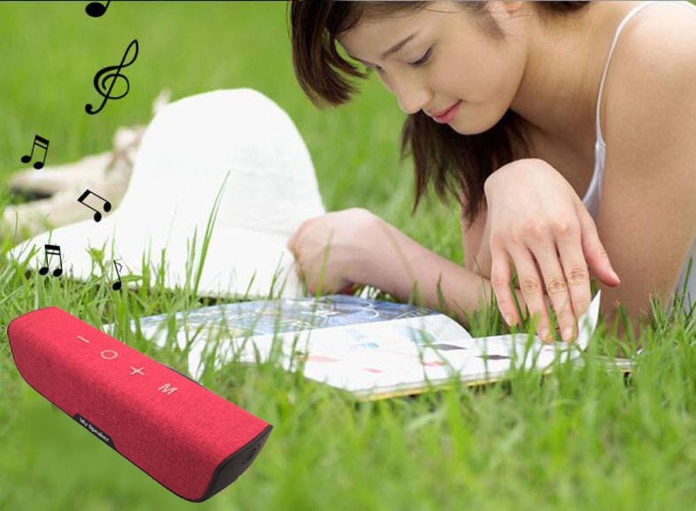 Cloth Cover IP65 Waterproof Bluetooth Speaker- Black