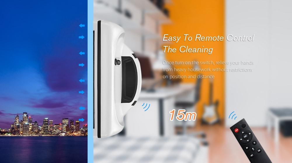 Cop Rose x6 intelligens robotszivattyú ablaktisztító otthoni irodához - Fehér EU-csatlakozó