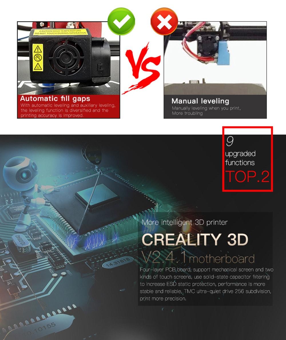 Creality CR - 10S Pro 300 x 300 x 400 3D nyomtató - fekete EU dugó