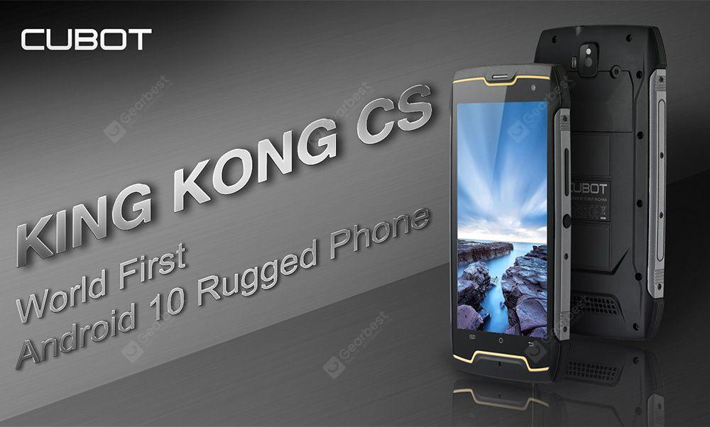 CUBOT KingKong CS 3G Smartphone IP68 Android 10 (Go Edition) 5.0 inch MT6580 Quad-Core 1.3GHz 2GB RAM 16GB ROM 5MP + 8MP Camera 4400mAh Battery Global Version- Black