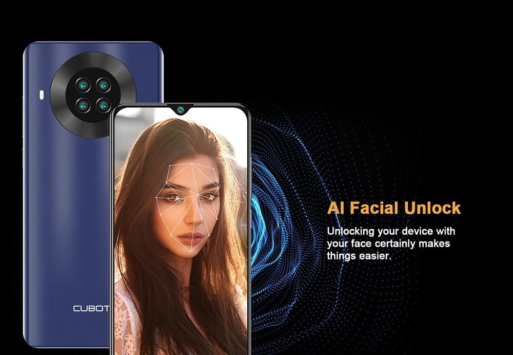 CUBOT NOTE 20 4G okostelefon - kék