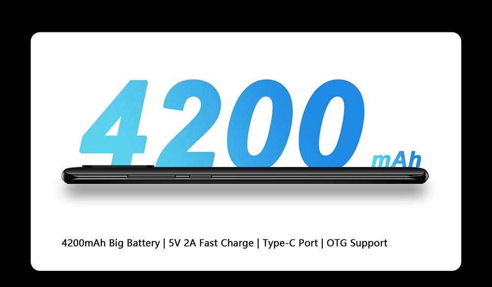 CUBOT P40 4G Smartphone MT6761D Quad Core 1.8GHZ 6.2 inch Rear Camera 12MP PDAF + 5MP + 0.3MP Battery Capacity 4200mAh Global Version - Medium Aquamarine