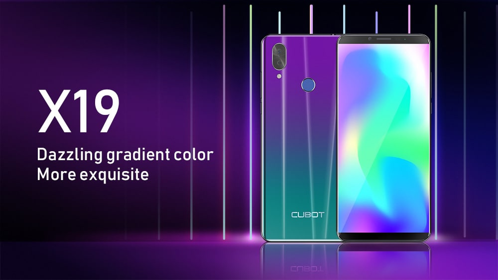 CUBOT X19 4G Phablet 5.93 inch Android 8.1 MT6763T ( Helio P23 ) Octa-Core 2.5GHz 64-bit 4GB RAM 64GB ROM 16.0MP + 2.0MP Rear Camera Fingerprint Sensor 4000mAh Built-in- Black EU Plug