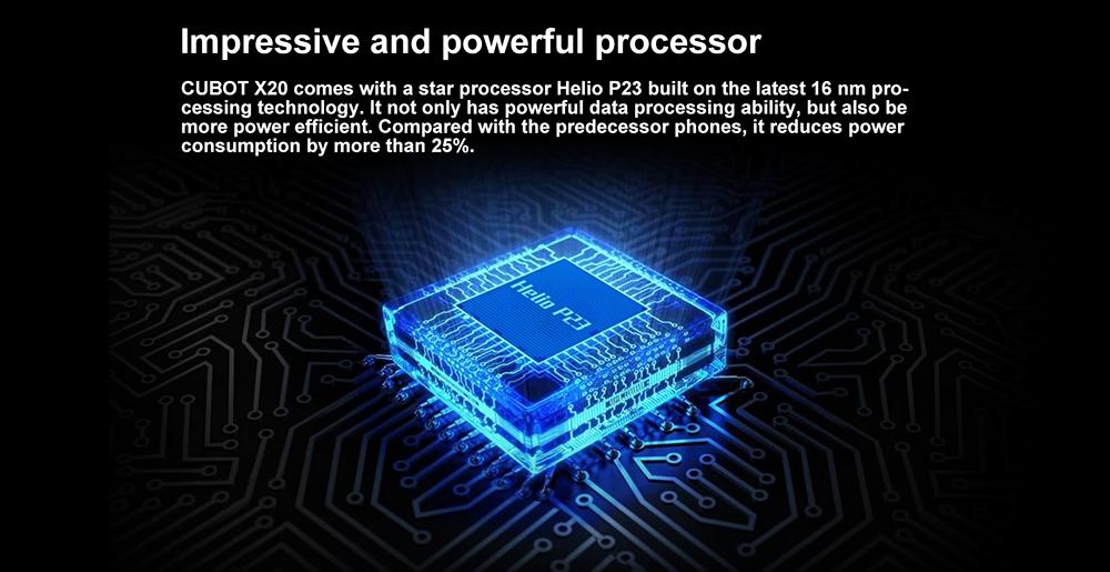 Cubot X20 4G Phablet Global Version 4 GB RAM 64 GB ROM - kék