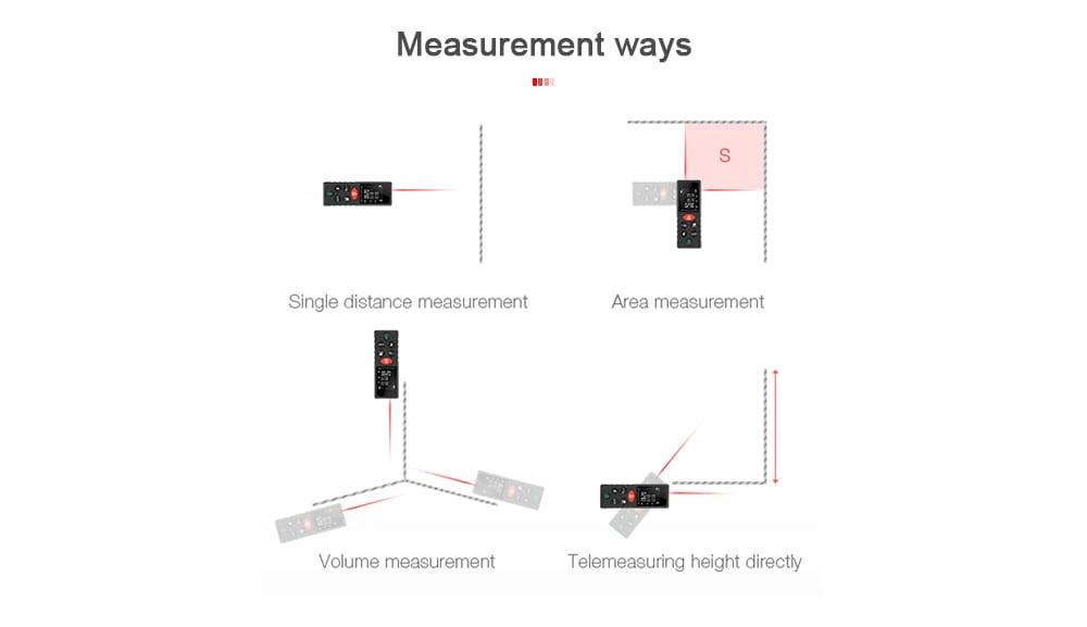 D40 Digitális lézeres távolságmérő diasmérő - fekete