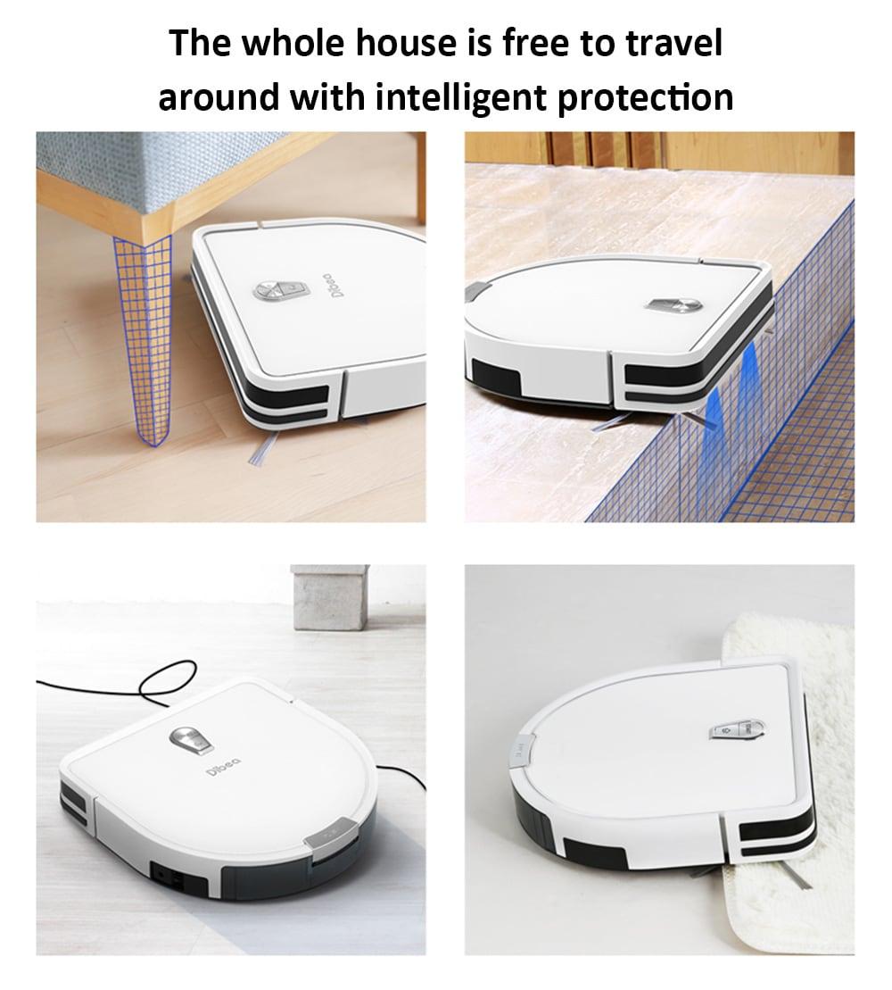 Dibea GT200 intelligens giroszkóp robot porszívó automatikus intelligens tisztító robot- kristálykrém