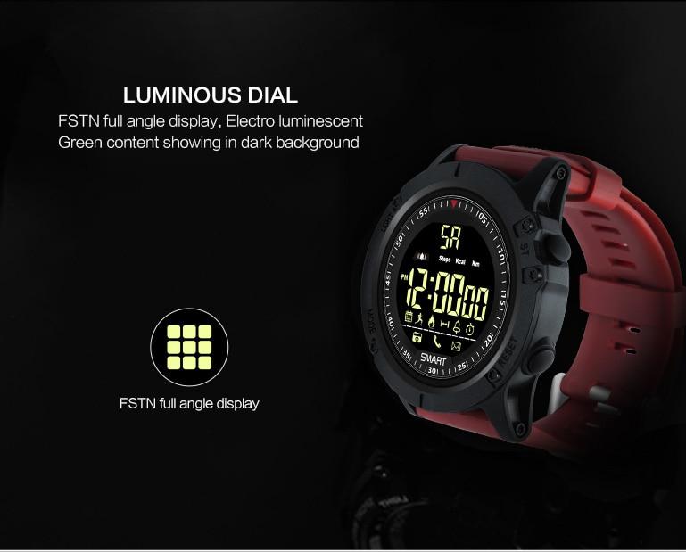 Diggro EX17S Smart Watch IP68 Vízálló 5ATM lépésszámláló üzenet emlékeztető hosszú készenléti idő Kültéri sportok Android IOS- fekete