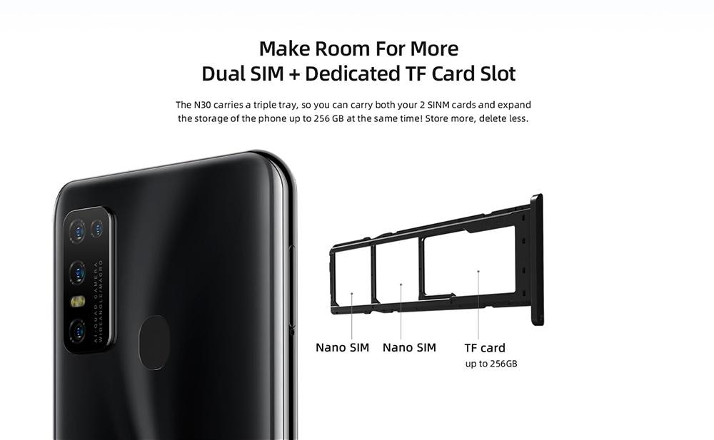 Doogee N30 Globális sávok 4G okostelefon - zöld, egyéb terület verzió
