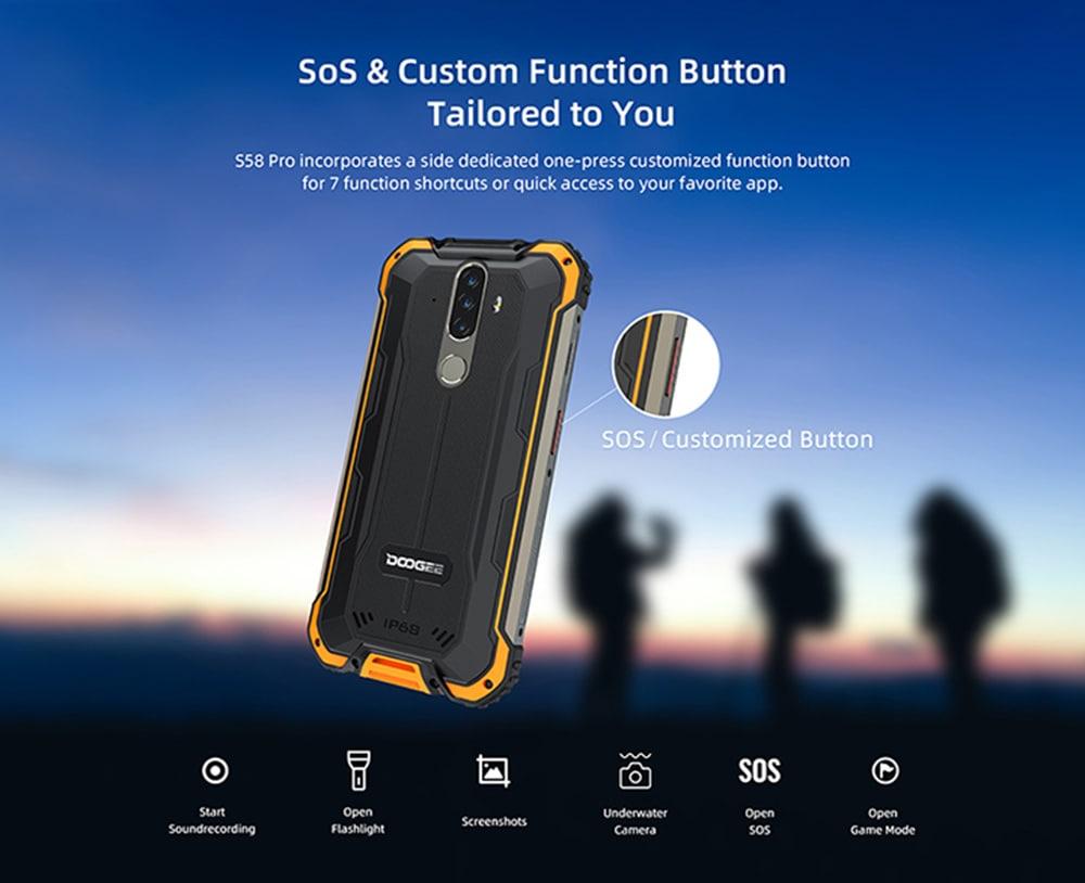 Doogee S58 Pro 4G okostelefon - Éjszakai EU verzió