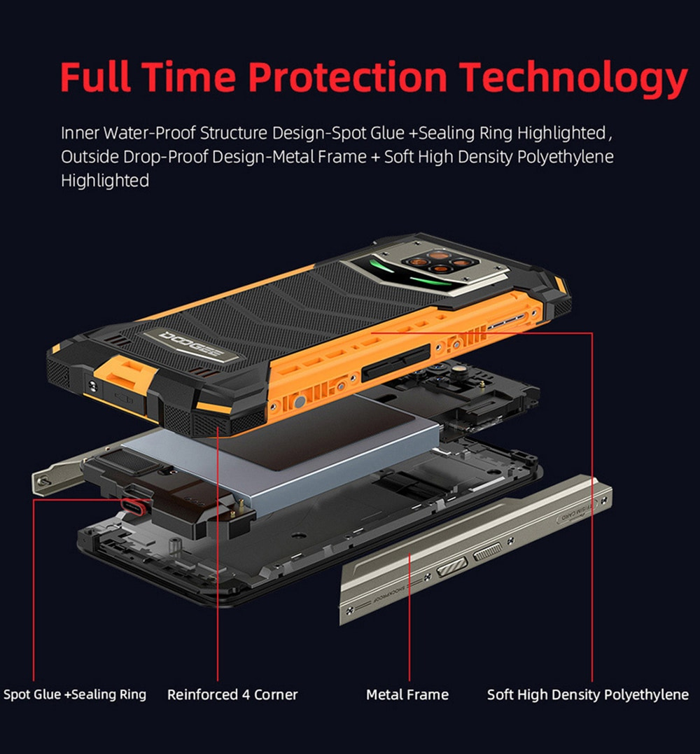 Doogee S88 Pro 4G Smartphone Global Version - Black EU Version