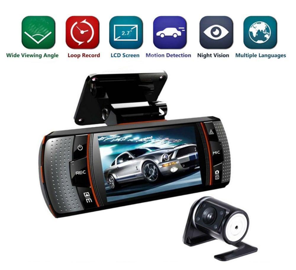 Dual Lens Mini Auto autós DVR kamera A1 Videofelvevő Full HD 1080P 2.7- Fekete