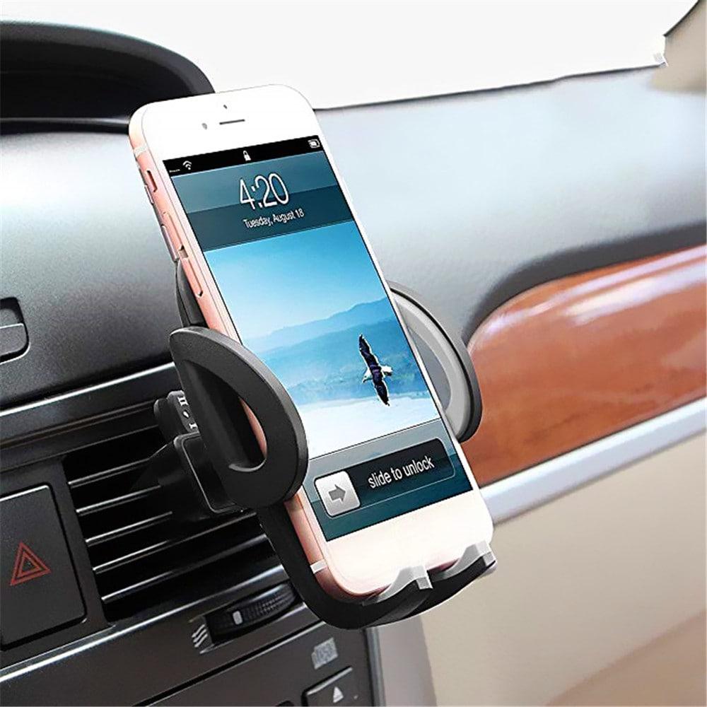 Elektronikus univerzális okostelefon autós levegő szellőztető tartó tartó tartó - fekete