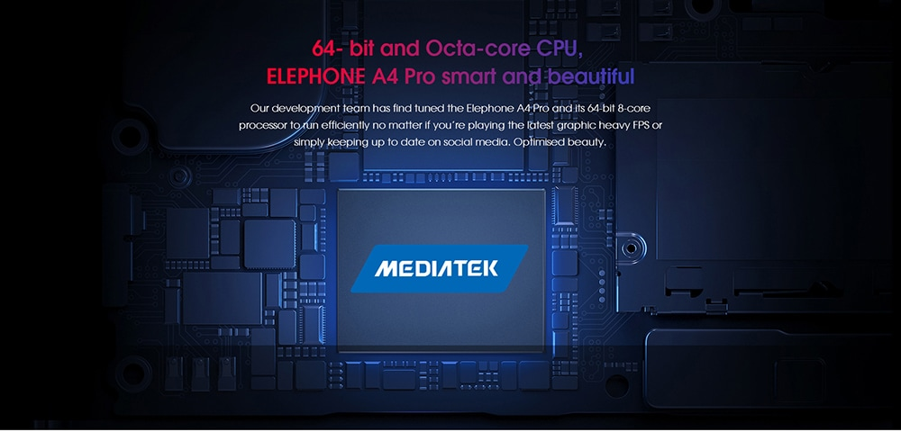 Elephone A4 Pro 4G okostelefon