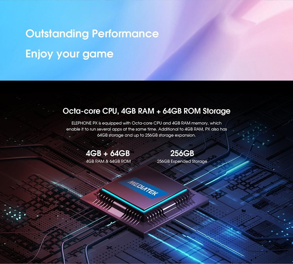 Elephone PX 4G Phablet 4GB RAM 64GB ROM- Crystal Cream