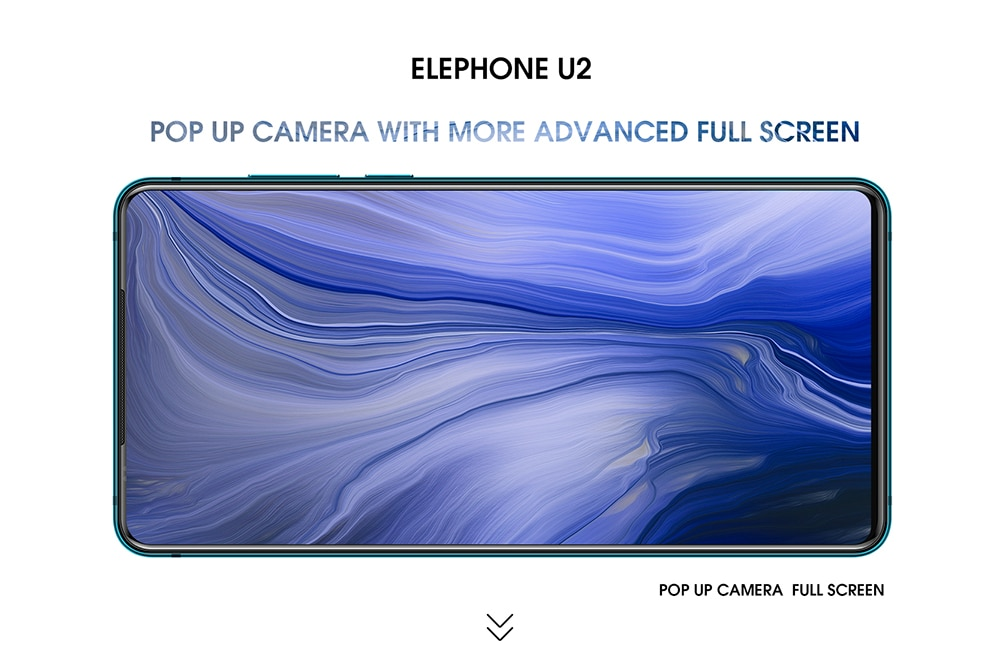 ELEPHONE U2 4G Phablet 6.26 inch Android 9.0 6GB RAM 128GB ROM 16MP 5MP 2MP Rear Cameras Built-in 3250mAh Battery  - Black