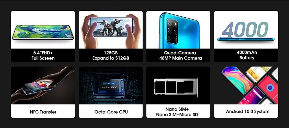 ELEPHONE U5 4G Smartphone features