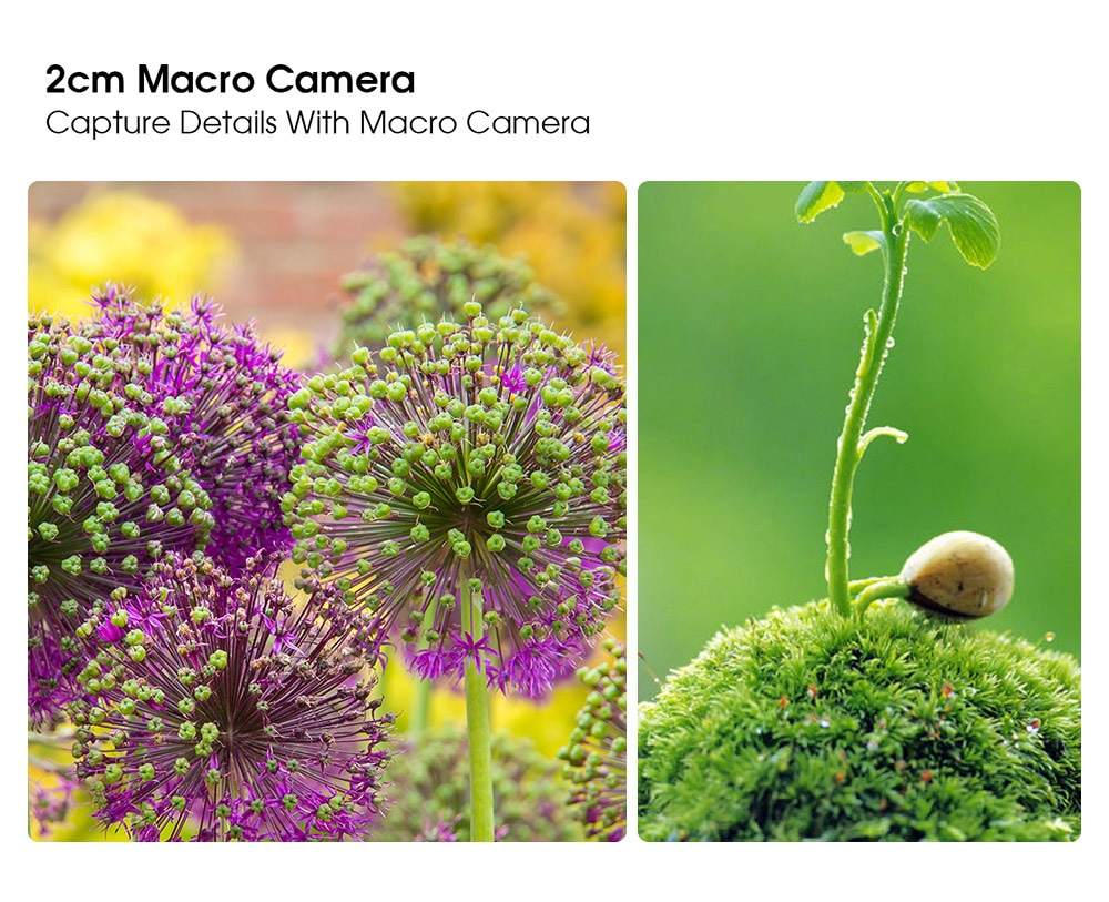 ELEPHONE U5 4G Smartphone 2cm Macro camera