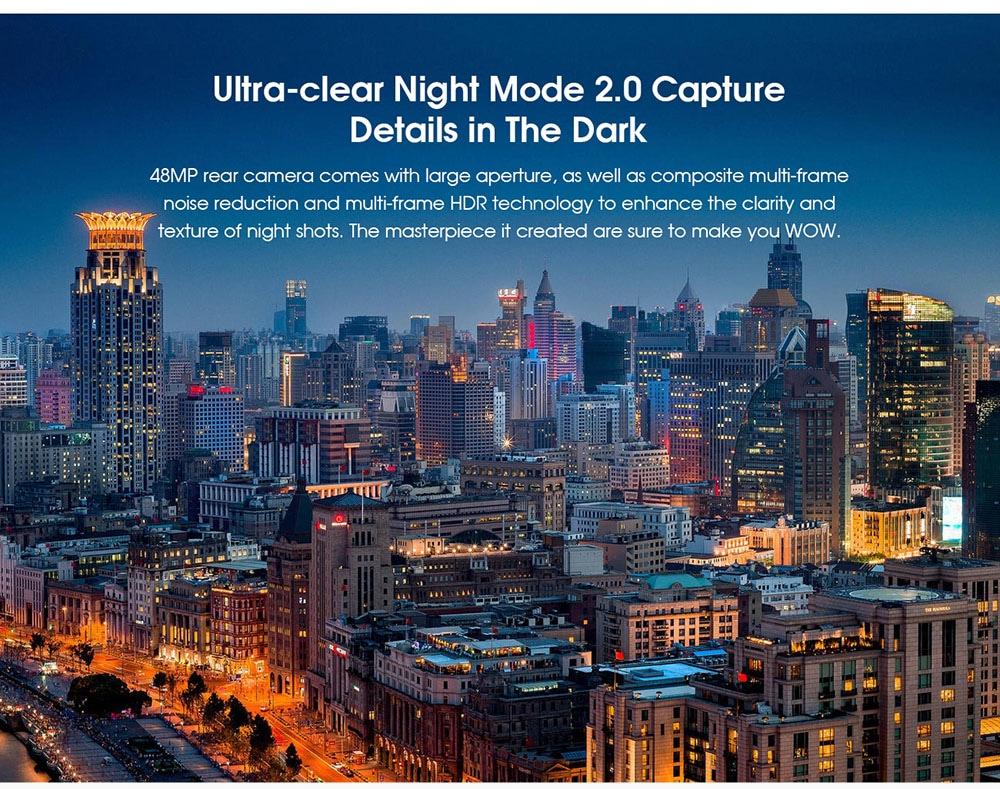 ELEPHONE U5 4G Smartphone Ultra-clear Night Mode 2.0 Capture Details in the dark