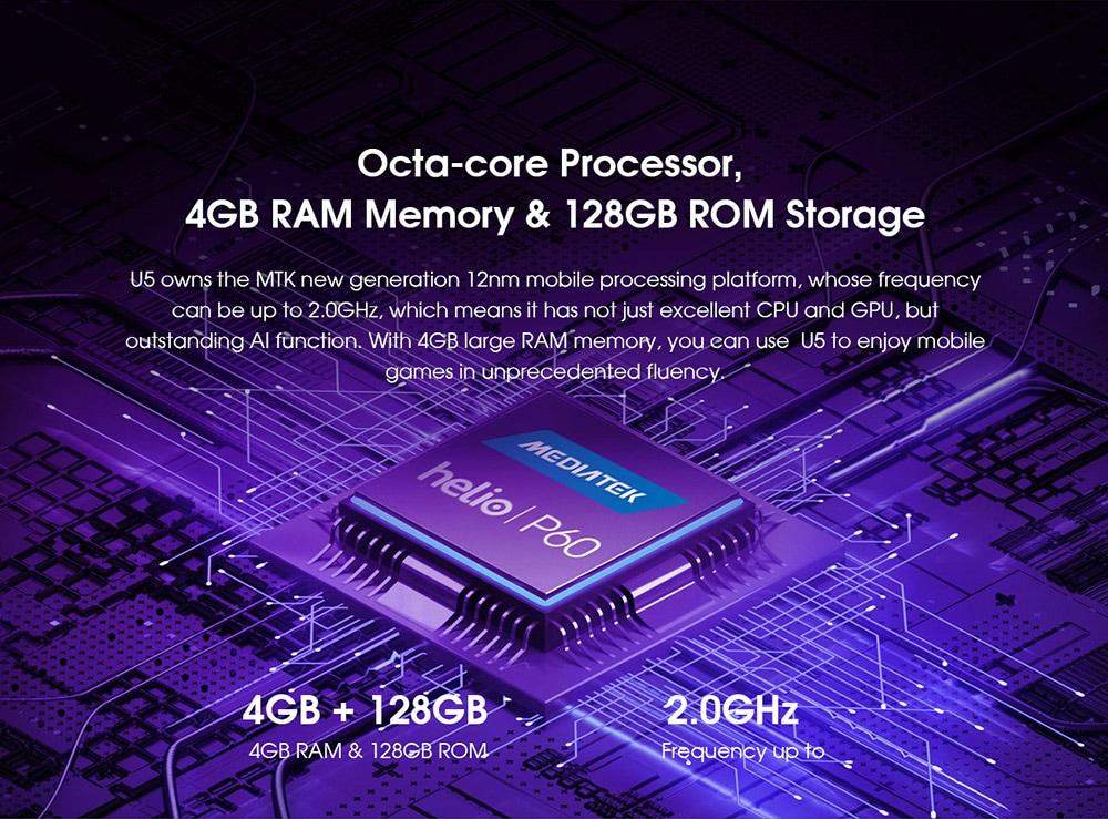 ELEPHONE U5 4G Smartphone Octa-core Processor