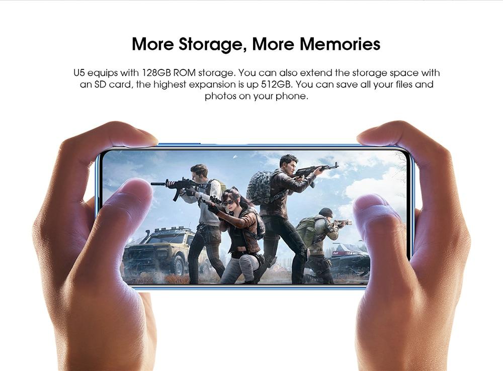 ELEPHONE U5 4G Smartphone More Storage, More Memories