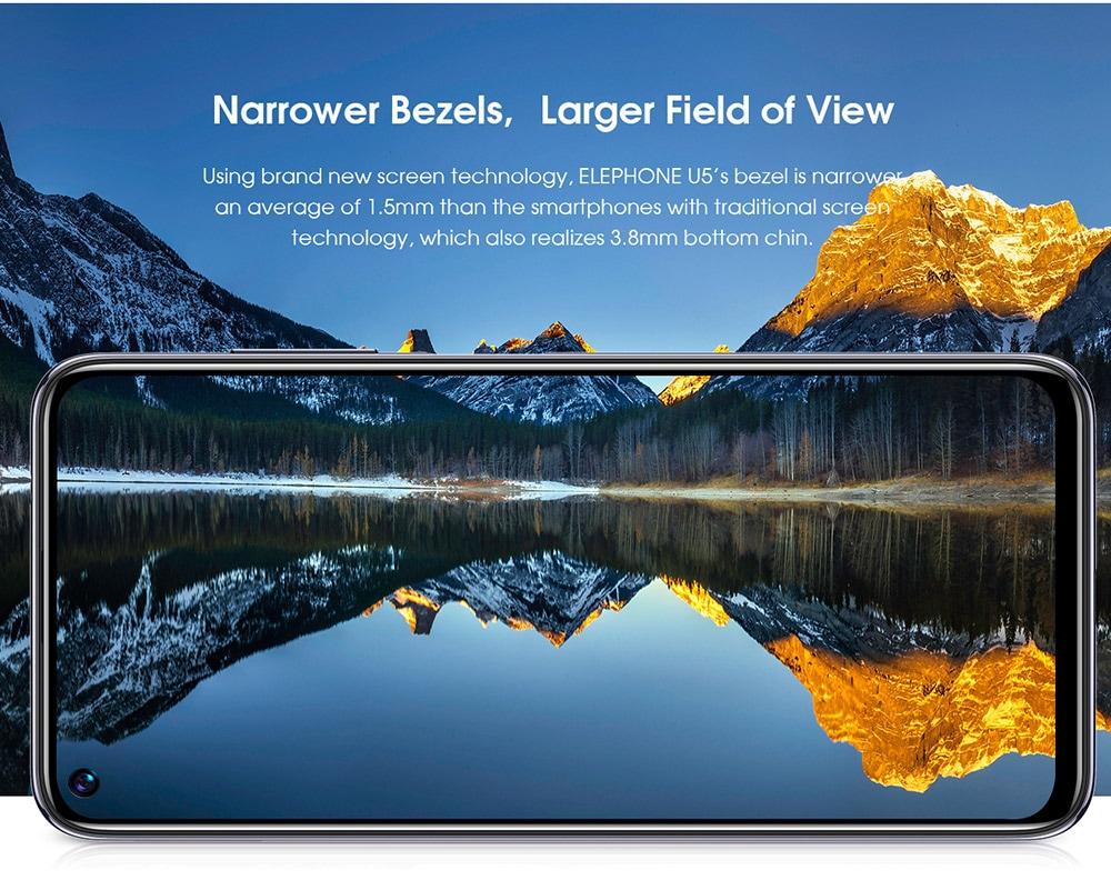 ELEPHONE U5 4G Smartphone Narrower Bezels, Larger Field of View