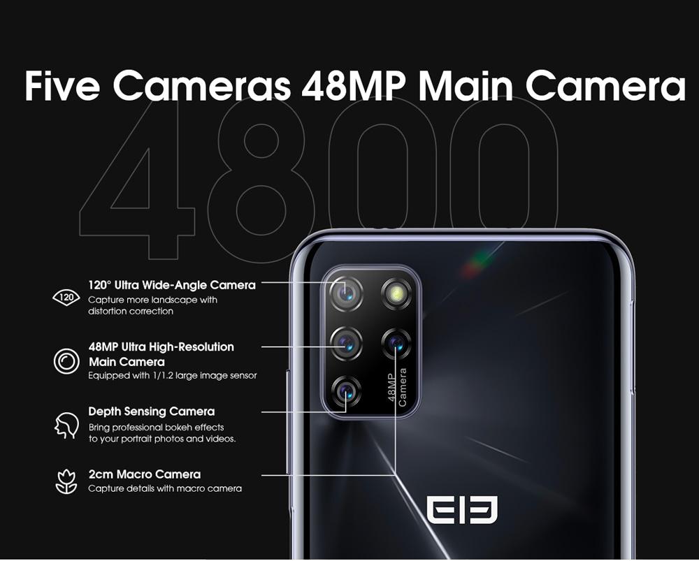 ELEPHONE U5 4G Smartphone Five cameras with 48MP Main Camera