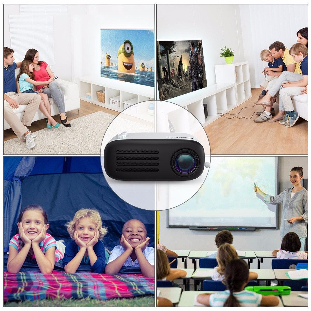Excelvan YG200 projektor - Fekete EU csatlakozó