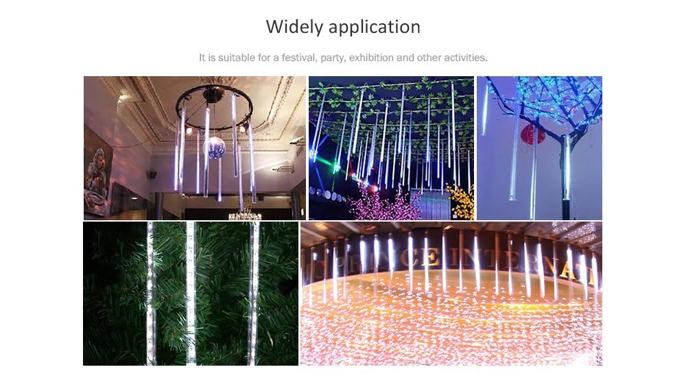 Finether HF - DL - XY - LX01 - LX - W Meteor Zuhanyforma String fény Holiday Christmas Halloween Party Beltéri kültéri dekoráció Kereskedelmi használatra - Cool fehér EU Plug