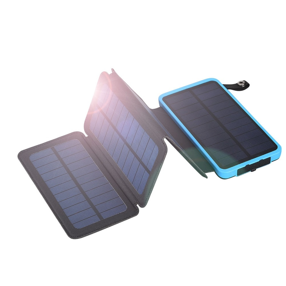 Floureon Solar power bank LED fény 10000mAh fekete-fekete