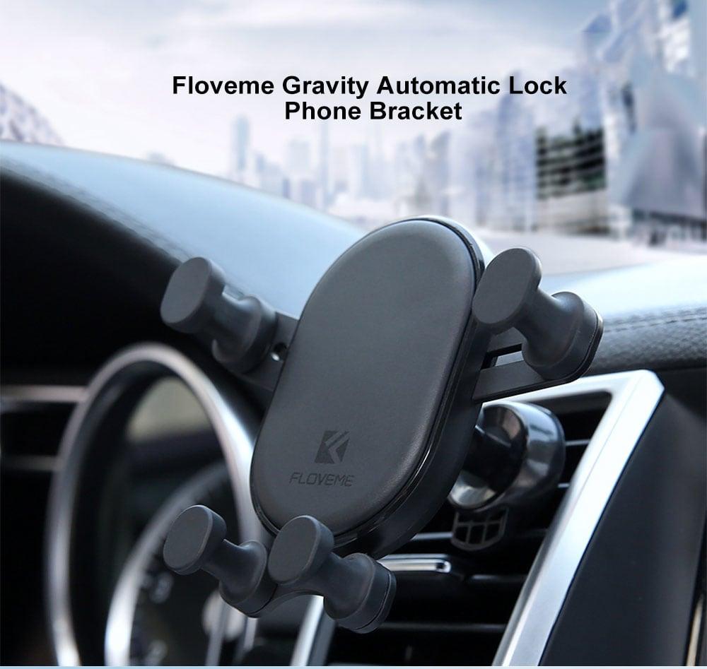 Floveme Car Gravity automata záró telefon tartó - fekete
