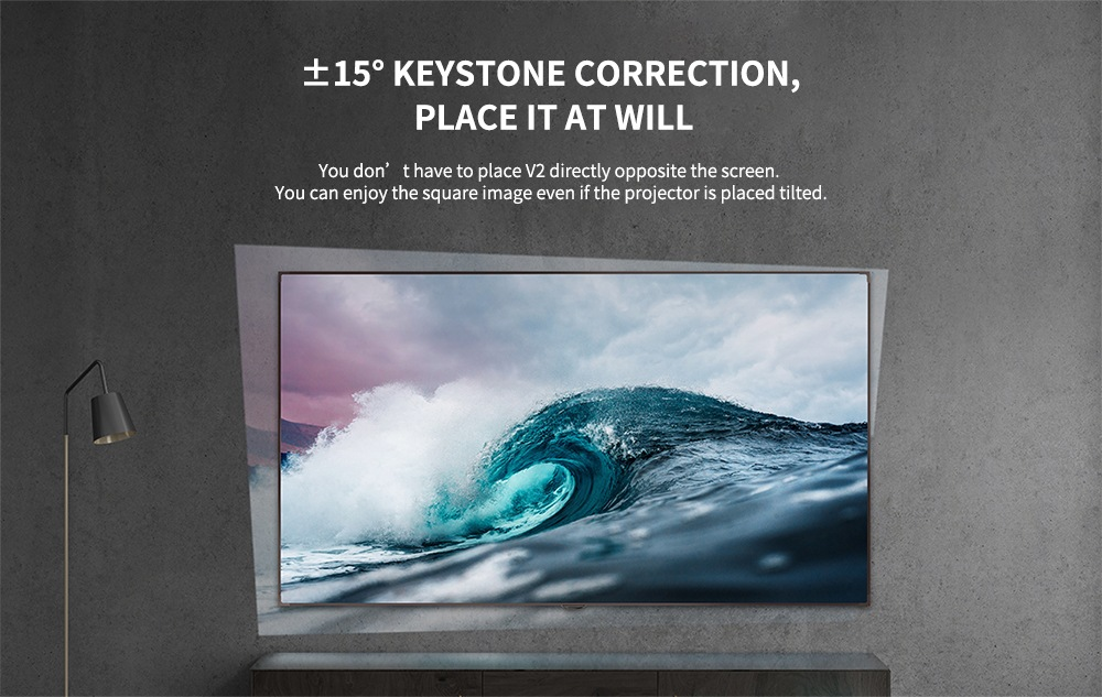 Flowfon V2 LCD projektor Vezetékes kijelző Tükrözés Otthoni szórakozás 1280 x 720P / Támogatás 1080P / 200 ANSI lumen / HDMI / USB / SD- Fehér EU csatlakozó