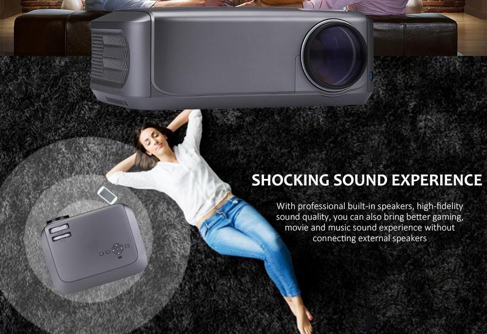 Flowfon XS High Fidelity Home Theater Projector- Ash Gray EU Standard Edition