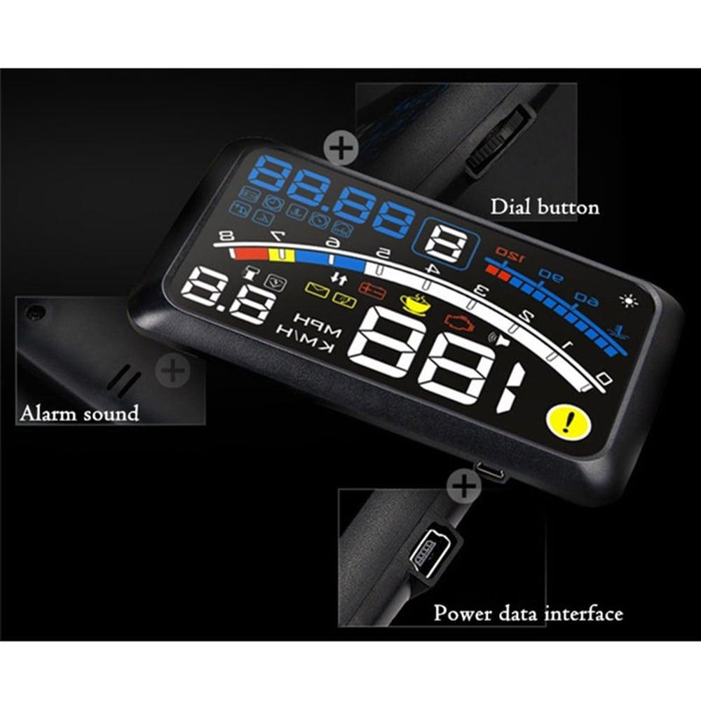 ÚJ F4 fejjel megjelenítő HUD OBD2 automata sebességmérő-fekete