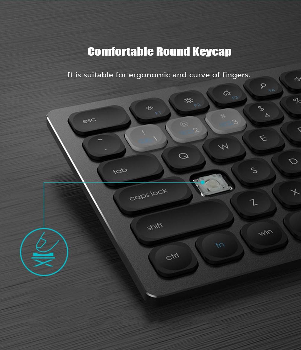 FUDE IK8300 Bluetooth 4.0 2.4Hz vezeték nélküli billentyűzet-ezüst