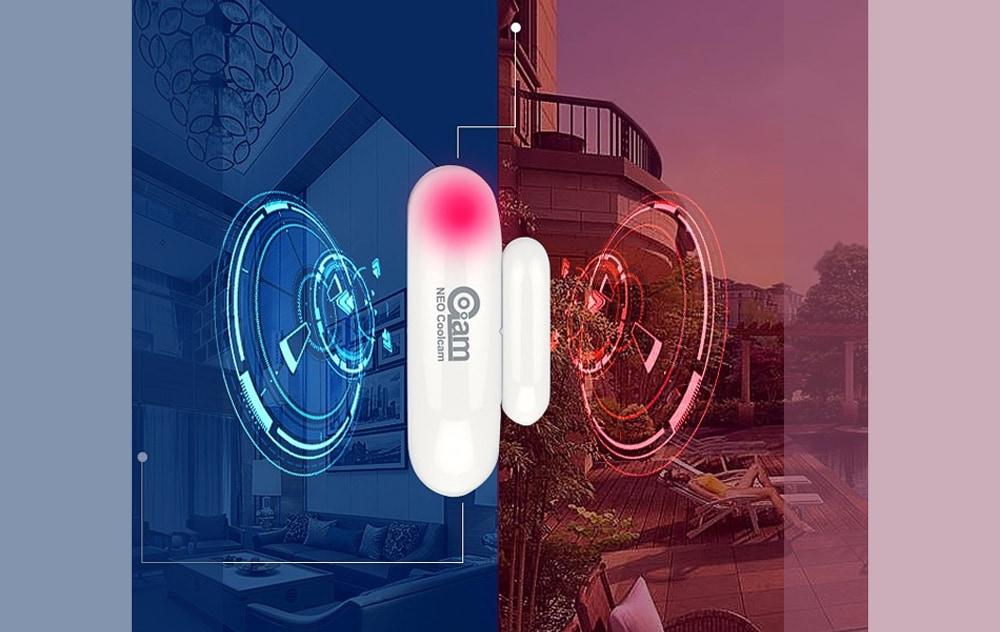 GC00AM NAS - DS01Z ajtóablak-érzékelő Z-hullámú technológiával Otthoni automatizálási rendszer - fehér EU frekvencia