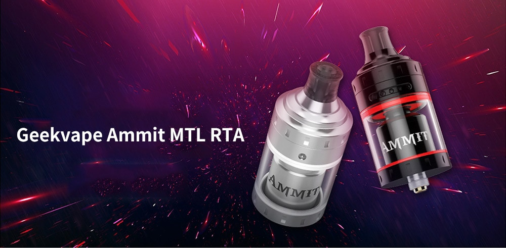 Geekvape Ammit MTL RTA with 4ml Capacity for E Cigarette- Black