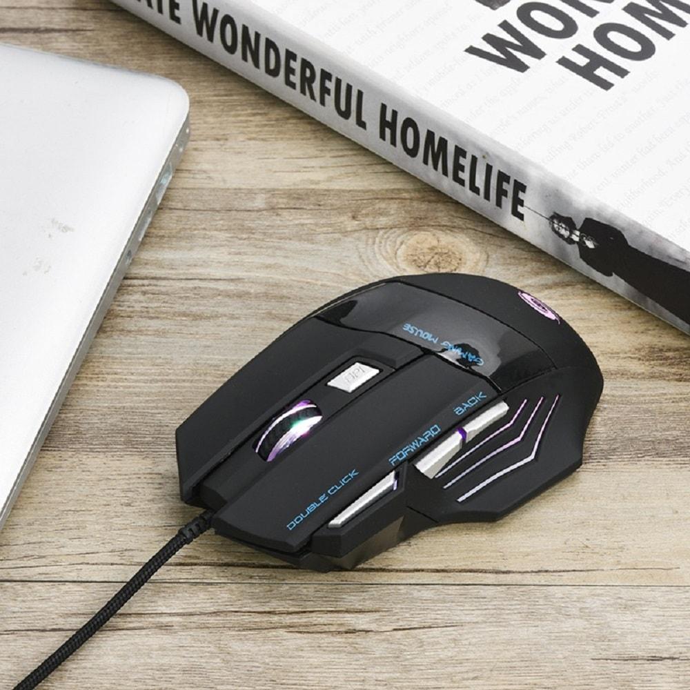 Izzó színes notebook játék / irodai egér - fekete