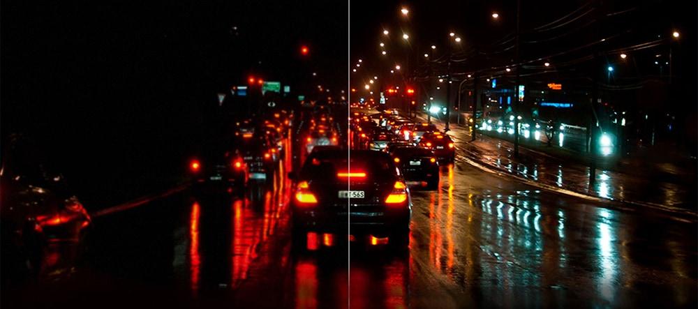Gocomma A2 4,3 hüvelykes HD 1080P érintőképernyős DVR visszapillantó tükrök Parkoló monitorral és zökkenőmentes hurok rekordokkal ellátott autós felvevő vezetése - fekete