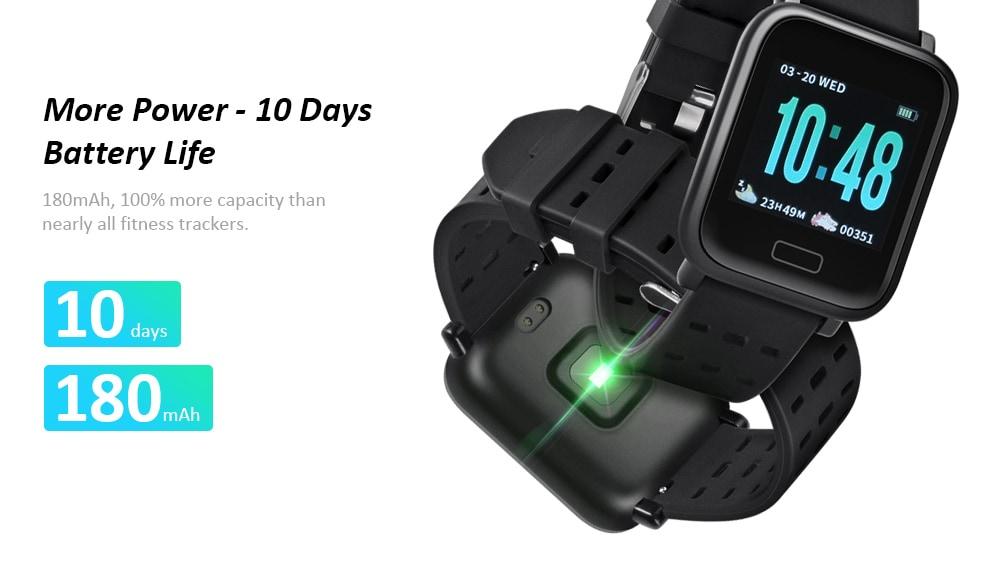 Gocomma A6 intelligens óra pulzusmérő Android / iOS- fekete egyszemélyes készülékhez