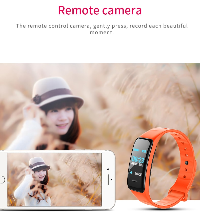Gocomma C1PLUS Color Screen Blood Pressure Smart Bracelet- Dodger Blue