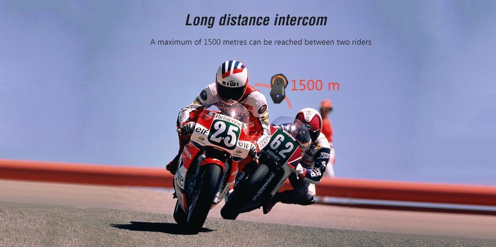 gocomma Freedconn T - MAX sisak fülhallgató / zajcsökkentés / hosszú élettartamú motorkerékpár Bluetooth intercom- fekete