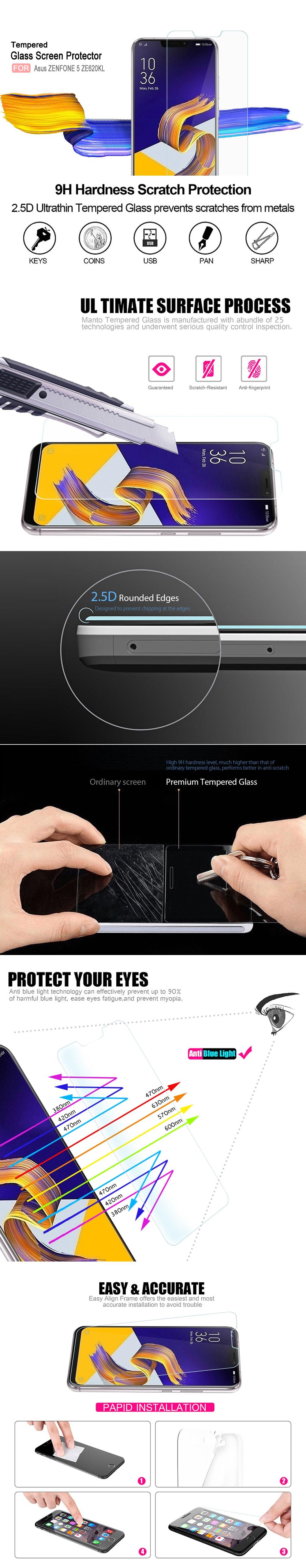 gocomma edzett üveg képernyővédő fólia Asus ZENFONE 5 ZE620KL / ZENFONE 5 - átlátszó