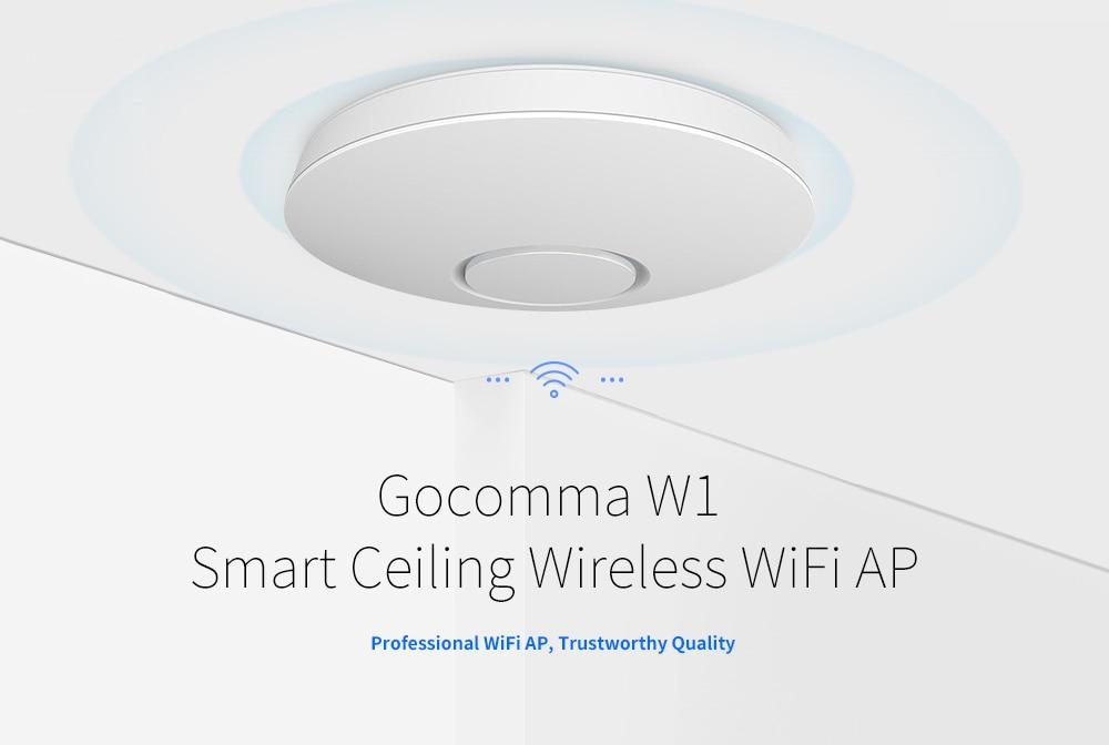 Gocomma W1 intelligens mennyezeti vezeték nélküli WIFI AP-fehér