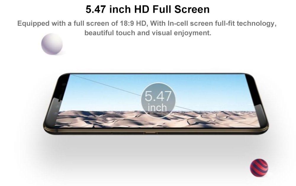 GOME U7 Mini 4G Smartphone 5.47 inch Gome OS 2.0 ( Android 7.1.1 ) Helio X20 Deca Core 2.0GHz 4GB RAM 64GB ROM 16.0MP Front Camera 13.0MP Rear Camera Fingerprint Sensor 2800mAh Built-in- Black