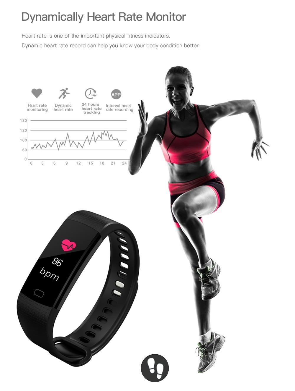 Szív / vérnyomás / vér oxigén / alvás monitor- Black