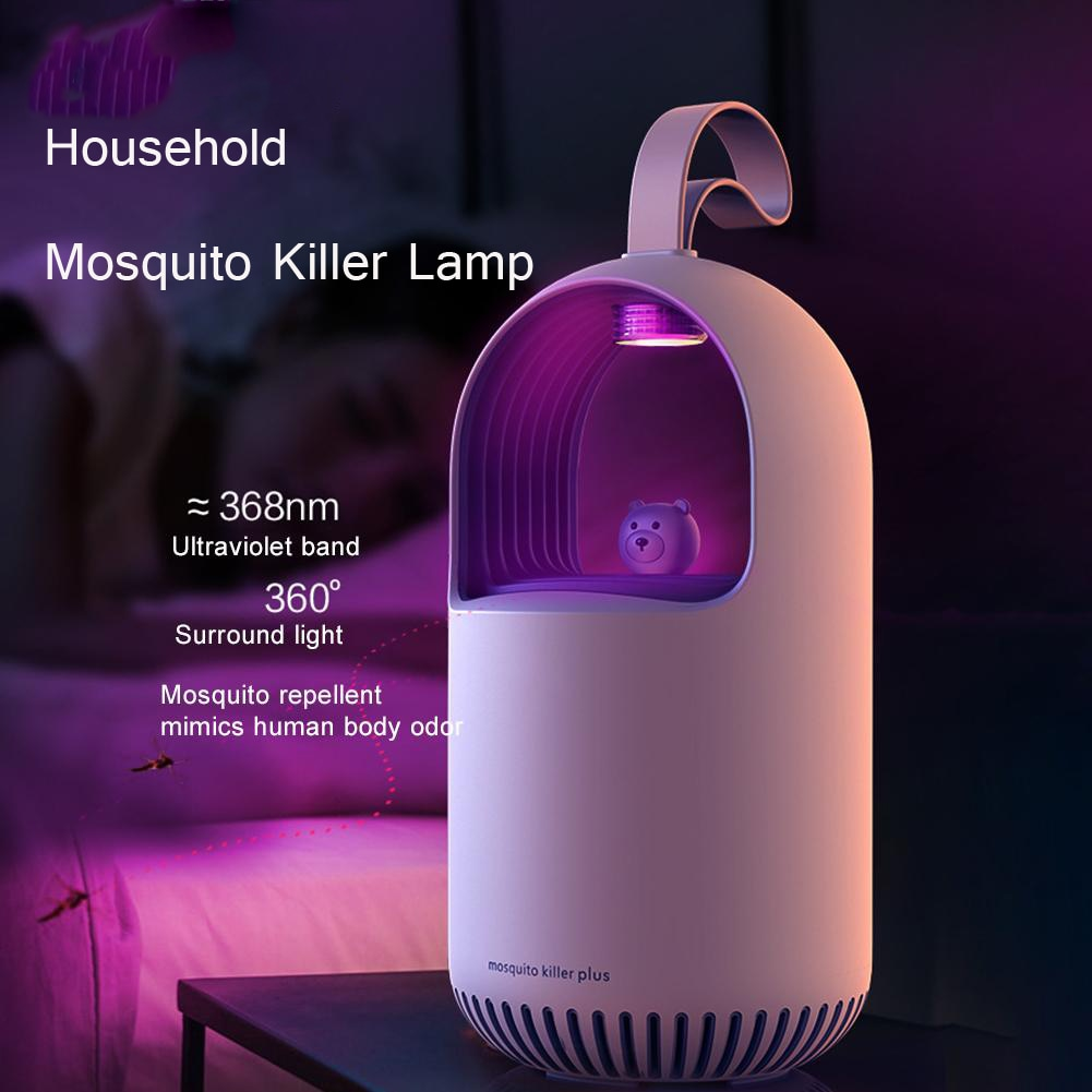 Szúnyoggyilkos lámpa háztartási fizikai néma beltéri baba terhes nő rovarriasztó - rózsaszín