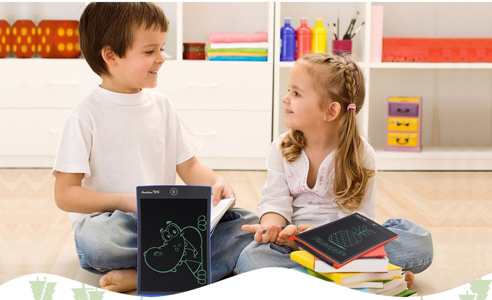 HOWSHOW 8.5 - inch Shockproof Magic LCD Electronic Drawing Tablet for Children Students - Blue