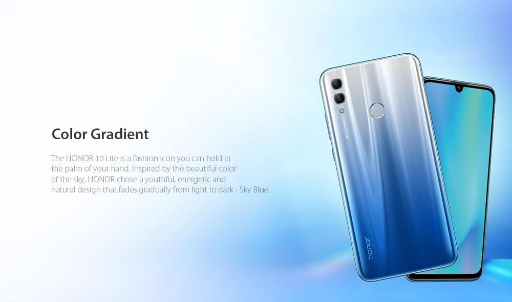 HUAWEI Honor 10 Lite 4G Phablet 3GB RAM 32GB ROM- Sky Blue
