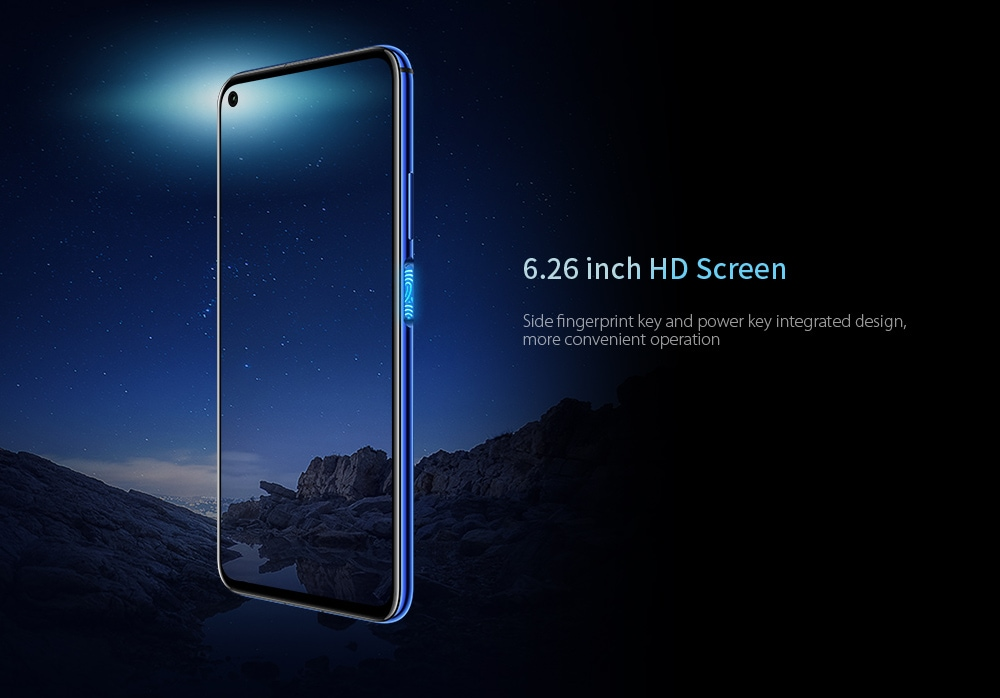 HUAWEI Honor 20 4G Phablet 6.26 inch Magic UI 2.1 Kirin 980 Octa Core 8GB RAM 128GB ROM 48.0MP + 16.0MP + 2.0MP + 2.0MP Rear Camera 3750mAh Battery- Black