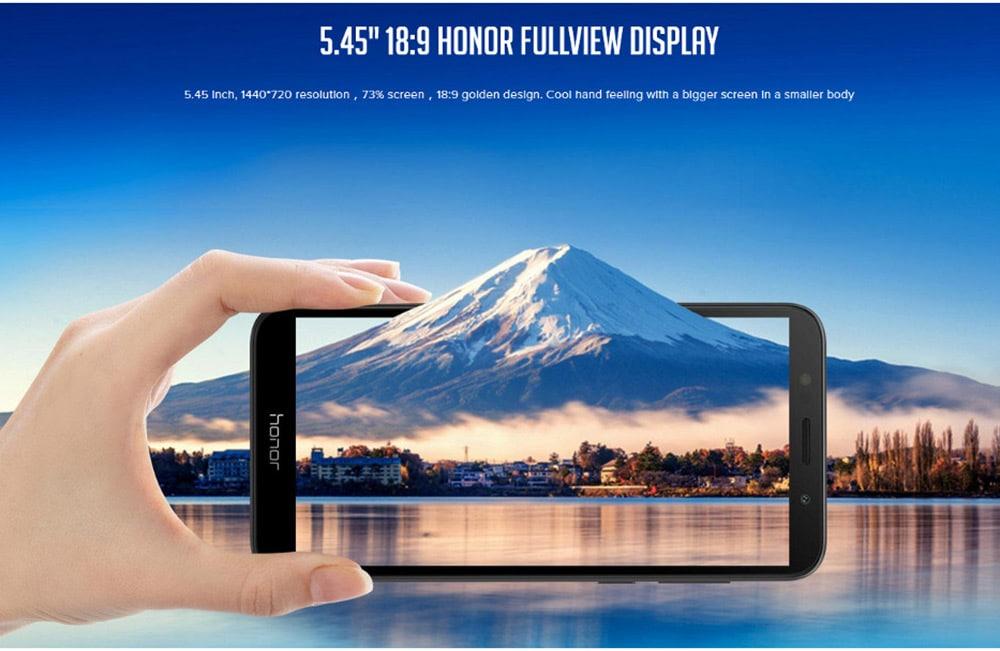 HUAWEI Honor 7S ( DUA - L22 ) 4G Smartphone 5.45 inch Android 8.1.0 MT6739 Quad Core 1.5GHz 2GB RAM 16GB ROM 13.0MP Rear Camera 3020mAh Built-in- Blue